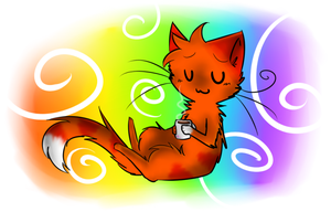 Fox likes her Hot Chocolate by FoxLover12