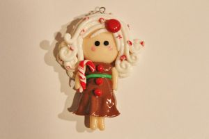 Gingerbread Candy Cane Girl by CharmStop