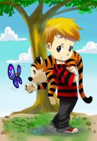 Calvin and Hobbes Fanart by Archiri