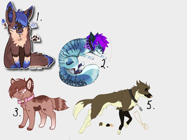 Design Adoptables all with art. 1 left by MoonlightGl0w