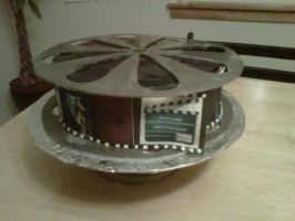 Movie Reel Cake by Cupcake-Killer