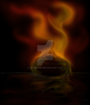 Burning Ember - Speed painting by artzechic