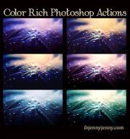 Color Rich Photoshop actions by ibjennyjenny