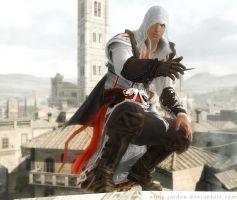 Ezio on the Rooftops by Ninja-Jaiden