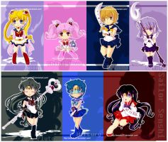 Sailor Senshi Chibi Collection by Sweetly25