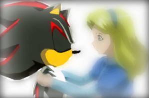 Shadow and Maria by Shanic-The-Hedgehog
