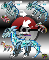 Fakemon - Geckice Line by UltimateRidley