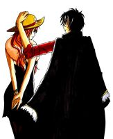 luffy x nami by WeleScarlett