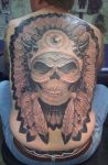 Indian Skull Backpiece by chrischrome
