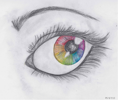 Rainbow Eye by Paint-Splatters