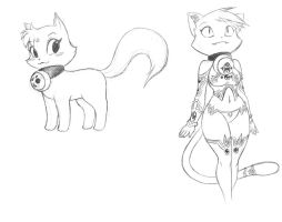 Kitty...doodle by chochi