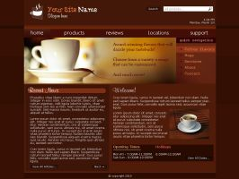Web Template - Coffee Shop by Sonic-Gal007