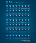 Free 56 Blue Icons by crYpeDesign