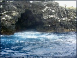 Black Cave and Ocean Water by AndySerrano