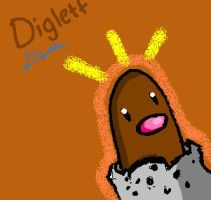 Diglett by iFailAtEverything
