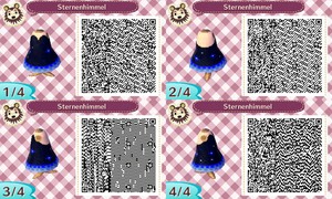 Animal Crossing New Leaf: Night sky dress by HildaWhite