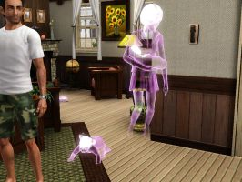 three ghost babies.. cmon by TheSims3Pets