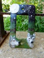 Woodland Wolves Switch Plate by Blitzava