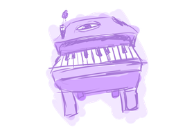 piano oni - fan ao oni oni thing by LunaGame