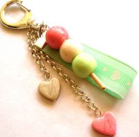 Kawaii Dango Bag Charm by FatallyFeminine