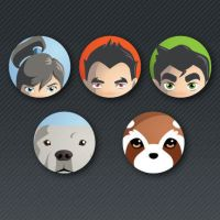 Legend of Korra Button Set by Sareidia