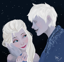 Elsa and Jack by shafiqsaya