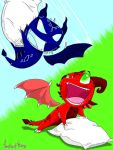 Pillow Fighting Dragons by O-C-Disorder