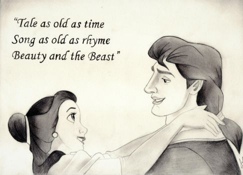 Tale as Old as Time (Disney Drawing) by julesrizz