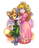 Cutie Fox and Peach for Heart by Celebi-Yoshi