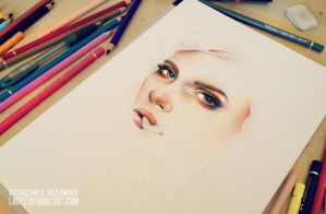 first_colored_pencil_work wip. by Lady2