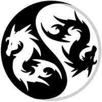 yin yang dragons by i-am-socket