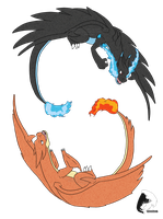 Mega Charizard X and Y by windrider01