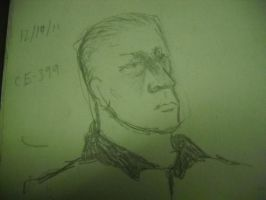 Sketch of Civics Teacher by InsanePaintStripes