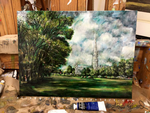 Castle and the Trees: Oil Master Copy by alisagirard