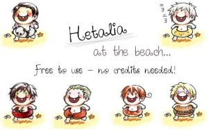 Hetalia at the Beach - Icons by what-the-crapola