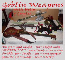 Goblin Weapons by hawthorne-cat