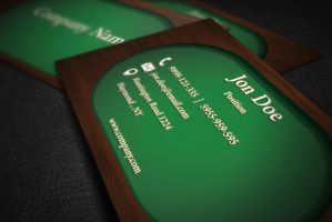Green Wood Business Card Template by BorceMarkoski