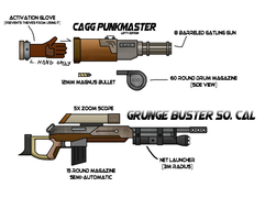 The CAGG Punkmaster and Grunge Buster .50 cal by OUTMACED121