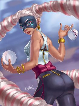 Twintelle from ARMS by Comadreja