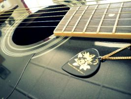 Ibanez Acoustic with Aoi Pick by Visu-freak
