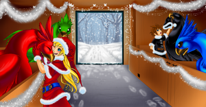 Xmas Morning in the Stable by Sakuyamon