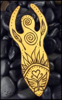 Honoring the Goddess - Backside of Totem Amulet by andromeda