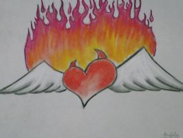 inspired heart by LadyWera