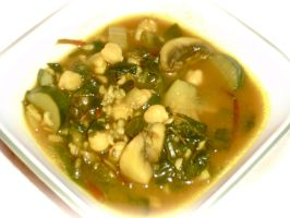 Curried Greens Soup by Mommynightskye