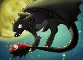 Toothless by SilverStainedHavok