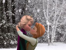 Elsanna's Kiss in the Snow by ElsannaShipper