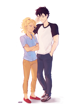 Percy and Annabeth by alex-29