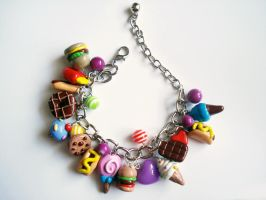 Chunk fast food bracelet by LittleMissDelicious