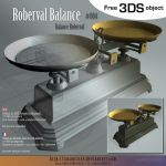 Free 3DS : 004-Roberval-balance by lasaucisse