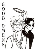 Good Omens - Title Page by SerenitysRiver